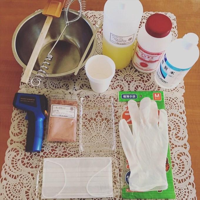 手作り石鹸の必要な道具や材料