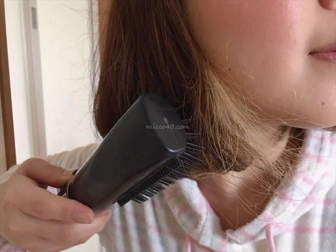 エイキンローズヒップオイルで髪の毛セット中