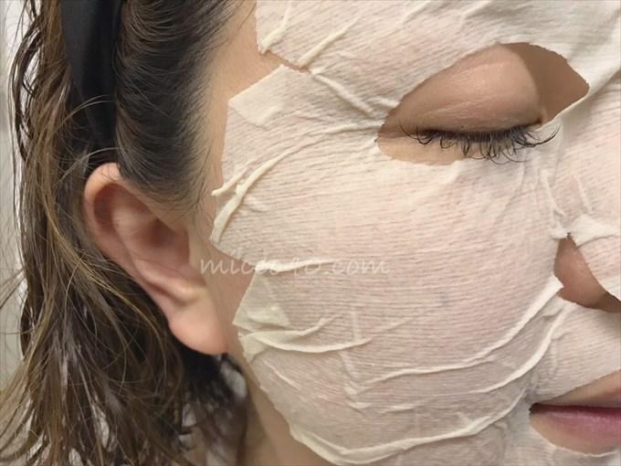 Cフレッシュホワイトマスクの使用中