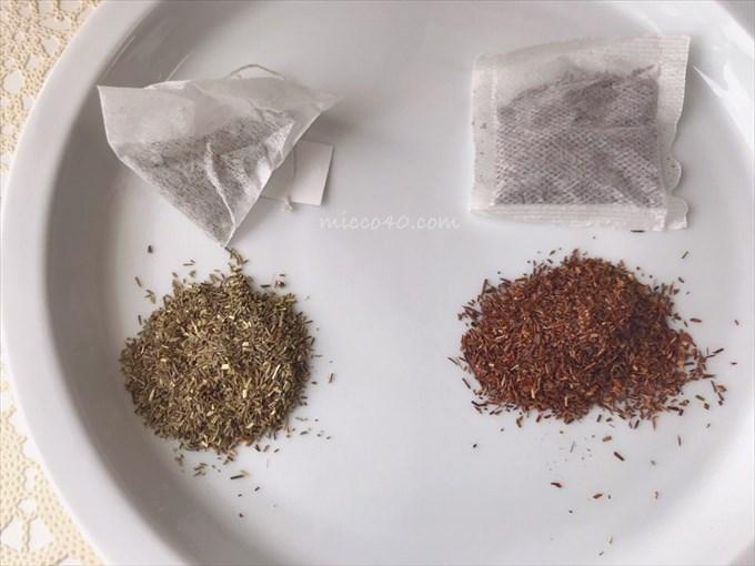 グリーンルイボスティーとルイボスティーの茶葉比較