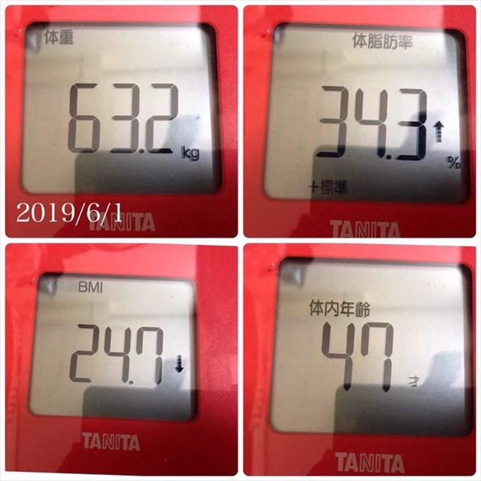 20190601体重体脂肪